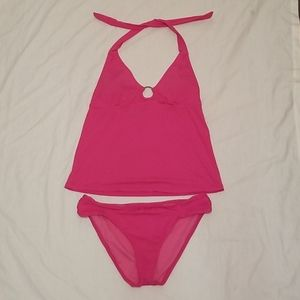 Tabkini Swimsuit Bright Pink by Bisou Bisou